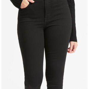 Everlane high rise skinny jeans in black